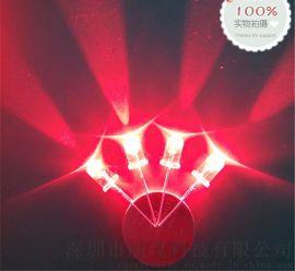 厂家专业生产直插 5mm红光 led发光二极管 F5红光插件灯