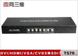 同三维T570 CVBS/VGA/HDMI/DVI转SDI高清音视频转换器