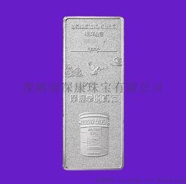 深圳万足银银条加工私人定制银砖商务办公礼品厂家供应批发商