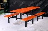 广东厂家定制八人位连体玻璃钢餐桌椅