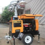大功率SFW6104拖拉式全方位照明灯车/4000W 移动照明灯塔厂家/**移动自动升降照明灯塔