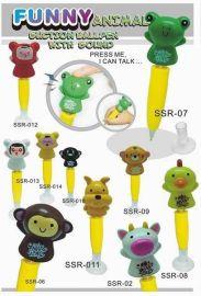SSR02-014发声笔,动物笔,摇头笔,吸盘笔,圆珠笔