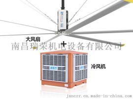 完美扇機組合潤東方環保空調+歐比特工業風扇,四季如春