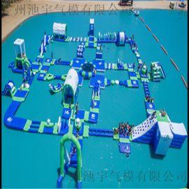 充气水上闯关组合大型支架水池冲关组合水上玩具闯关水上乐园设备