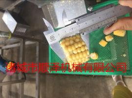 肯德基玉米块切割机 速冻玉米切段机 甜玉米切段机