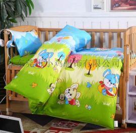 小雞棉被廠家**定制 幼兒園被子六件套 純棉兒童四季被 兒童被褥多件套批發