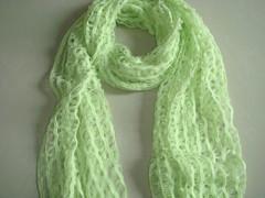 方格状针织毛线围巾