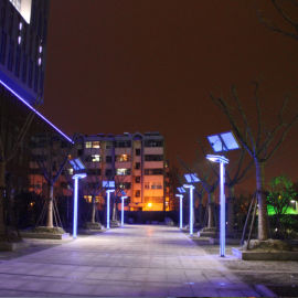 路灯基地厂家直销3-6米锂电池LED太阳能庭院灯
