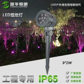 江门璨华 led插地灯9W18W投射灯