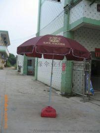 连体桌椅沙滩伞 户外广告太阳伞生产制做厂家