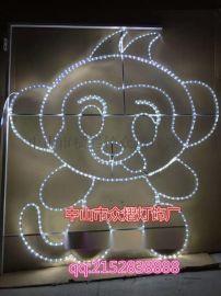 雪花造型装饰灯街道亮化景观节日LED灯画图案灯
