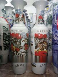 瓷器大花瓶2米高 鸿运当头手工陶瓷大花瓶定制厂家