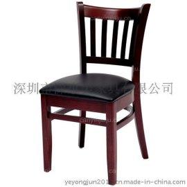 酒店高档餐椅 中西餐厅餐椅实木软包餐椅 多色餐桌椅北欧餐椅 休闲咖啡椅 软面包原木休闲椅