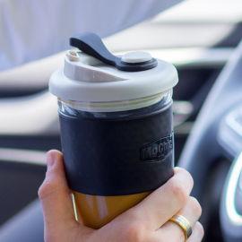 创意玻璃杯带盖高档礼品杯子定制车载咖啡杯OEM