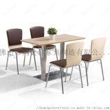 廠家定製彎木軟包座椅帶連接扣快餐桌椅