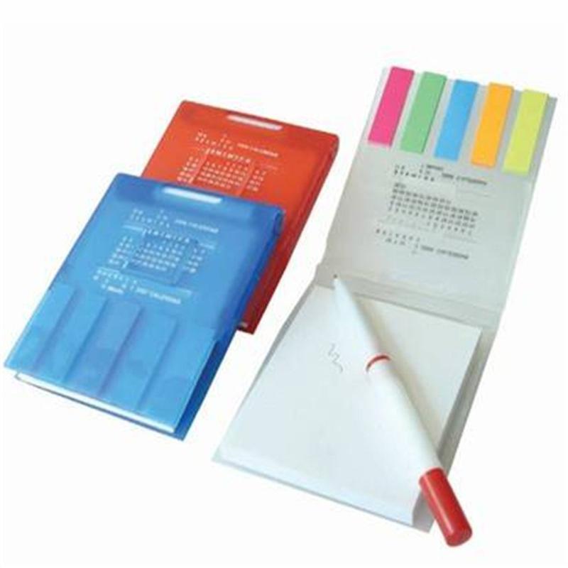 新款促銷品塑料便籤本帶筆便籤本定製