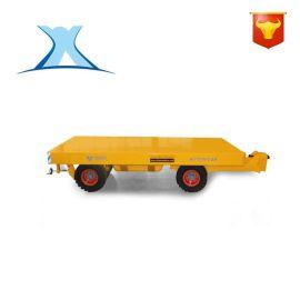 车间物料运输四轮转向拖车 实心橡胶万向轮低平板拖车 无动力推车