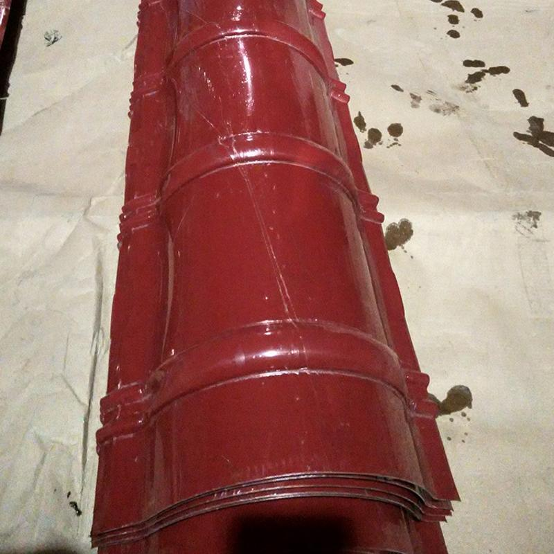 供應半圓形仿古脊瓦瓦 彩鋼仿古琉璃瓦廠家直銷YX25-200-800型