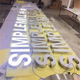 门头广告LED发光字招牌LED发光字树脂发光字不锈钢发光字立体字