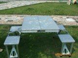 鋁合金摺疊桌椅 戶外休閒摺疊連體桌椅批發定製廠家