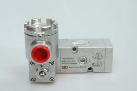 二位三通不锈钢316电磁阀/先导式防爆ExdIICT4/就地安装BDV配套气缸