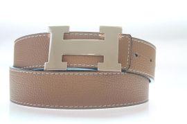 厂家订做经典爆款H型工字扣男女通用皮带 真皮皮带