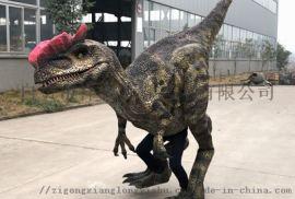 恐龙皮套 仿真恐龙衣服  恐龙表演服