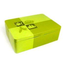**包装铁盒定制生产厂家, 方形格子式白茶, 铁盒定制
