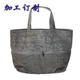韩版尼龙折叠袋 环保时尚拉链便捷收纳袋