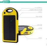 太阳能移动电源厂家供应**聚合物5000毫安太阳能移动电源 户外旅行必备手机充电宝