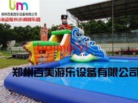 河北海盜船長水上充氣滑梯大型移動樂園全新設計定做廠家