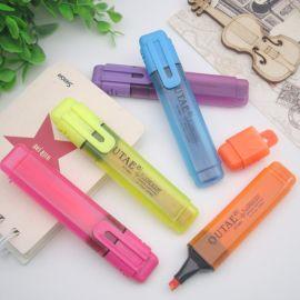 OUTAE OT-803 厂家直销彩色荧光笔 供应大头笔记号笔 环保   办公文具