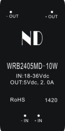 24V转5V2A隔离稳压开关电源,WRB2405MD-10W批发价