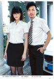 南昌夏季60棉白色衬衫供应,来LOGO绣字