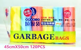 净康6卷装新料可降解垃圾袋点断式加厚塑料袋胶袋清洁袋中号