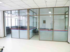罗湖区办公室玻璃隔断_钢化玻璃门安装_省心