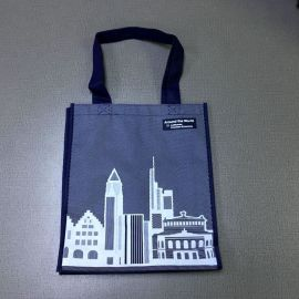 彩印覆膜无纺布袋子定做超市折叠手提袋广告购物袋环保袋定制logo