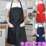 韩版家居广告工作服围裙简约厨房服务员围裙男女围腰