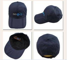 直销户外新款防水帽防晒帽 三折叠太阳帽鸭舌帽登山速干帽子男女