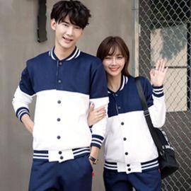 棒球服秋冬装新款春季情侣装学生韩版情侣卫衣棒球服运动外套定做