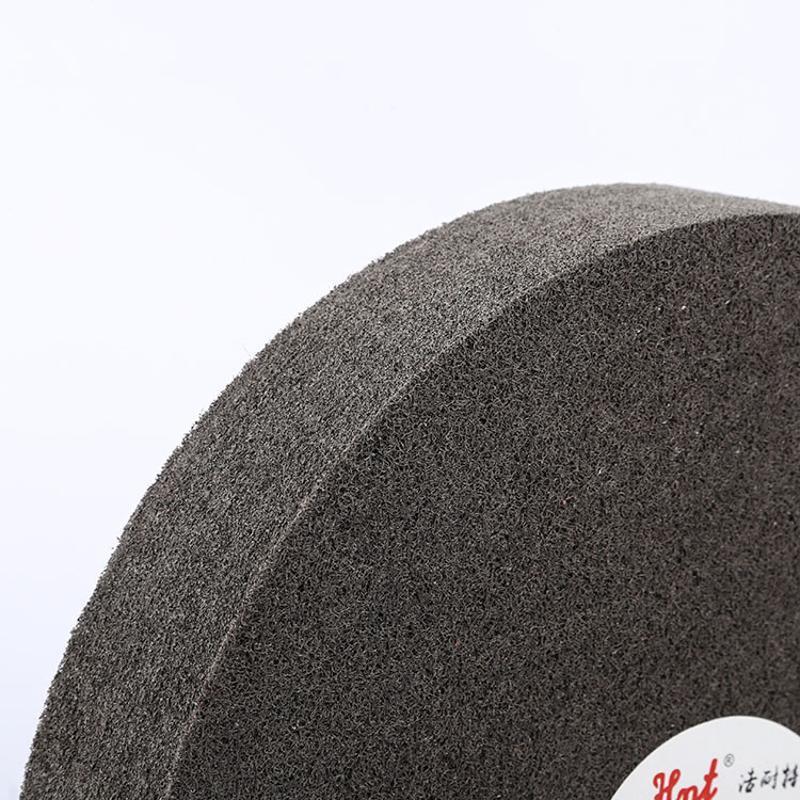尼龙轮350*50/350*25不织布耐磨纤维轮规格纤维尼龙抛