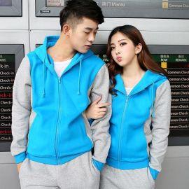 定做工作服韓版秋裝外套拼色長袖班服開衫冬衛衣工裝