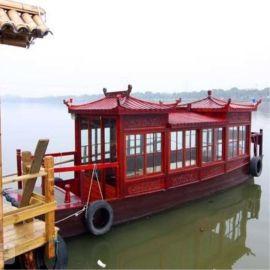 电动船/画舫游船/木船观光船/大型餐饮船/公园仿古木船/画舫船