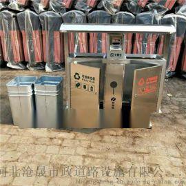 大同不锈钢垃圾箱 移动环保垃圾箱 不锈钢垃圾桶