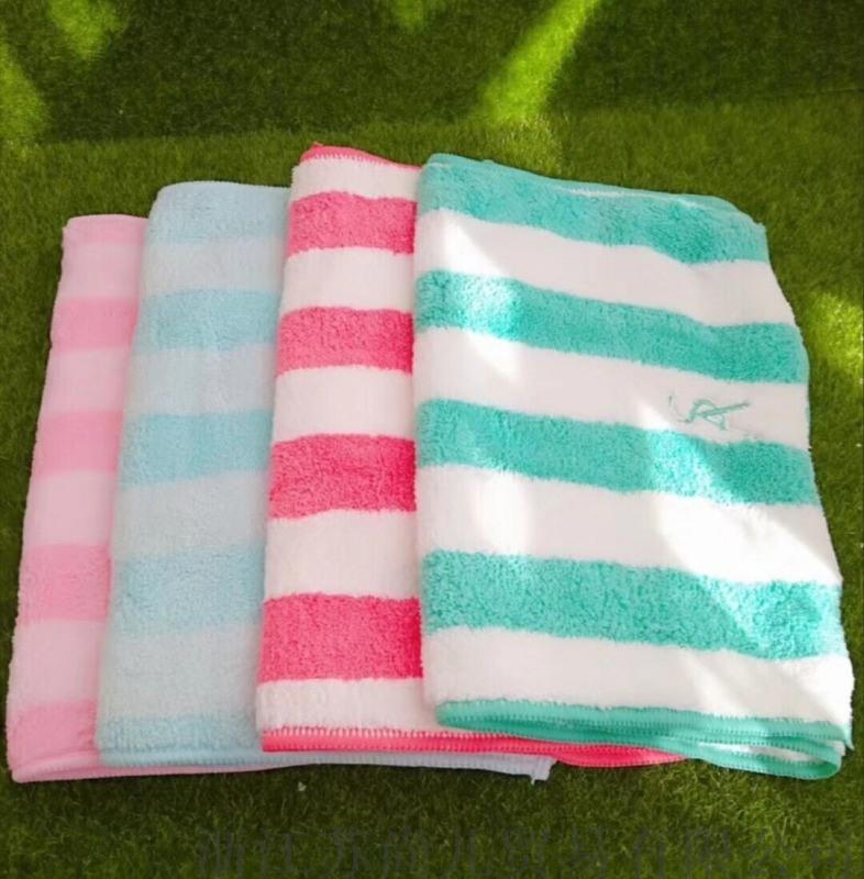 條紋毛巾蘇尚兒陽離子四季柔膚巾