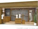 烤漆展柜定做 柜台 服装店品牌女装实木展示柜木质