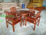 直销户外家具园林街道小区池边庭院户外实木桌椅