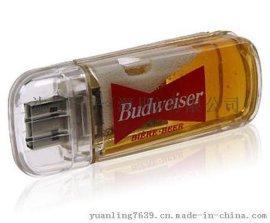 创意新奇特透明啤酒瓶U盘定制商务广告啤酒类促销赠品