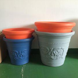 OEM客户定制滚塑成型塑料花盆/塑料花园盆栽花盆