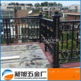 苏州厂家直销别墅阳台扶手护栏 露台围栏 铝合金安全防护栅栏定制
